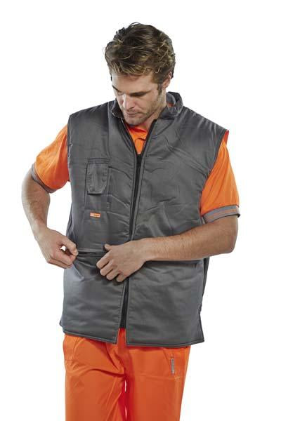 Reversable Body Warmer - Orange