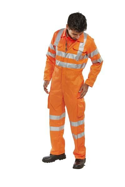 Hi Viz Orange Coverall - GORT - Azured - Rail Spec - Lapwing UK