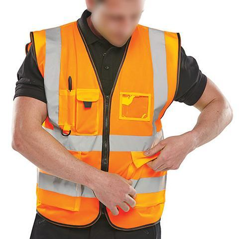 Class 2 Orange Executive Hi Viz Waistcoat - Azured - General Hi Vis - Lapwing UK