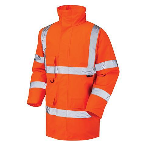 Class 3 Orange Professional Hi Viz Jacket - Azured - Rail Spec - Lapwing UK
