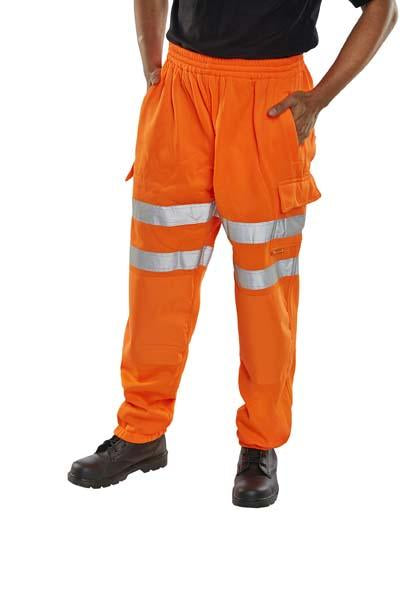 Hi Viz Jog Bottoms - Orange - Azured - Rail Spec - Lapwing UK