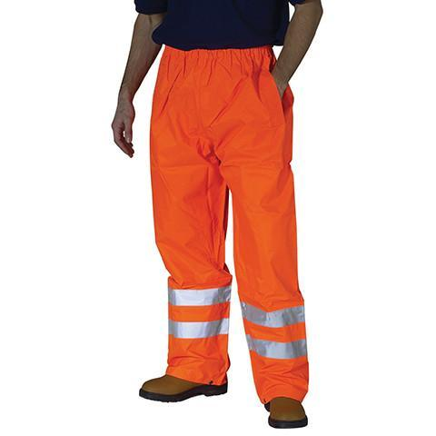 Hi Viz Orange Overtrousers - Azured - Waterproof Clothing - Lapwing UK