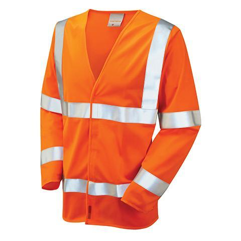 Class 3 Orange Hi Viz Long Sleeved Waistcoat - Azured - General Hi Vis - Lapwing UK
