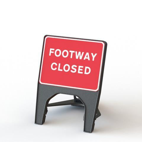 Plastic Road Sign - Footway Closed