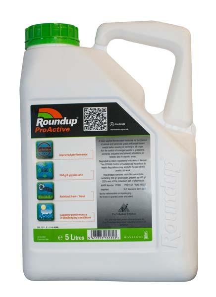 Round Up Proactive Weed Killer 5L - Orbit - Landscaping Tools - Lapwing UK