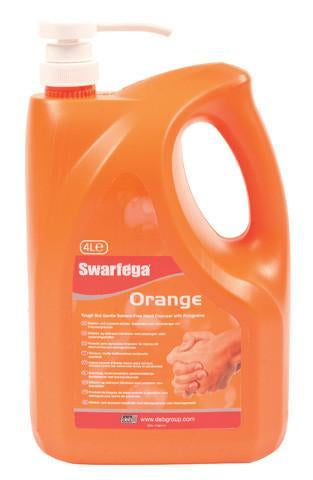 Swarfega Orange 4 Litre Pump Top Bottle - Orbit - Hand Cleaners - Lapwing UK