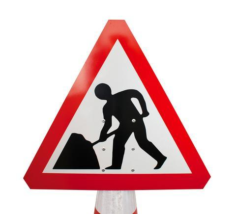 Plastic Cone Signs: Men At Work - Orbit - Temporary Road Signs - Lapwing UK