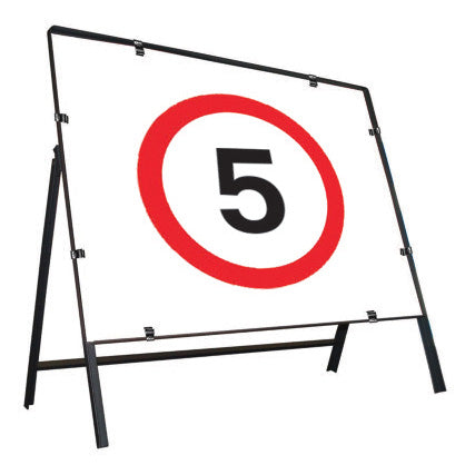 5MPH  Metal Temporary Road Sign 600 x 600mm