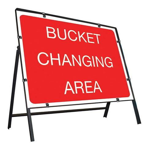 Metal Road Sign Bucket Changing Area