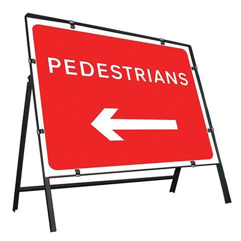 Metal Road Sign Pedestrians Arrow Left