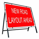 Metal Road Sign New Road Layout Ahead - Orbit - Temporary Road Signs - Lapwing UK