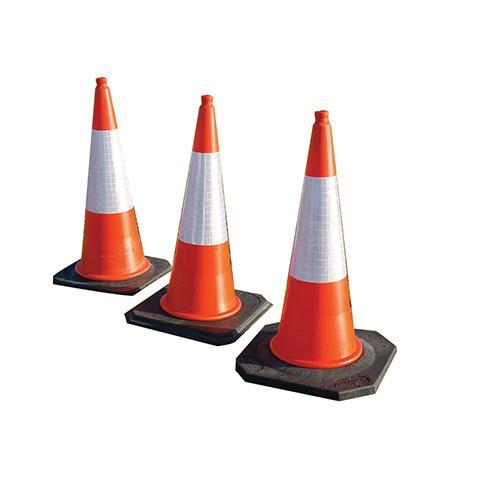 750mm 2 Part Highway Cones with D2 Sleeve - Orbit - Traffic Management - Lapwing UK