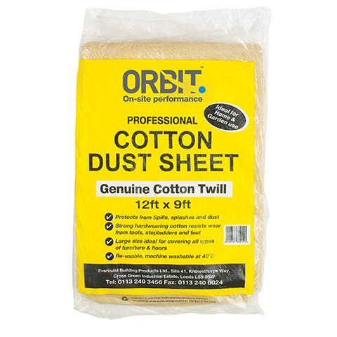Cotton Dust Sheets - Orbit - Temporary Covers & Storage - Lapwing UK