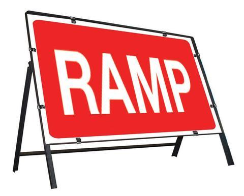 Metal Road Sign Ramp
