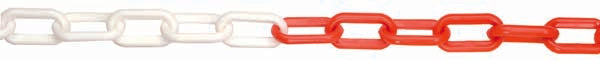 Plastic Chain  Red / White - Orbit - Traffic Management - Lapwing UK