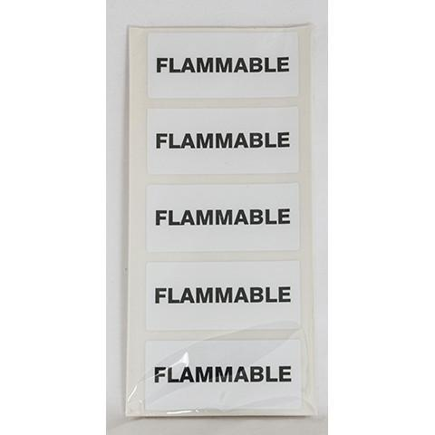Flammable Fuel Can Stickers