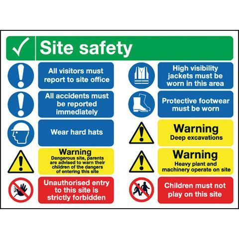 Site Safety Sign 10 Panel - Orbit - Safety Signage - Lapwing UK