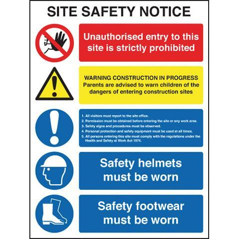 Site Safety Notice - Orbit - Safety Signage - Lapwing UK