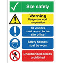 Site Safety Sign 4 Panel - Orbit - Safety Signage - Lapwing UK