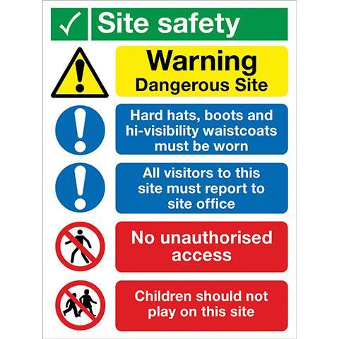 Site Safety Sign 5 Panel - Orbit - Safety Signage - Lapwing UK