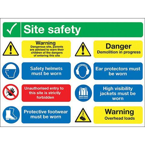 Site Safety Sign 8 Panel - Orbit - Safety Signage - Lapwing UK