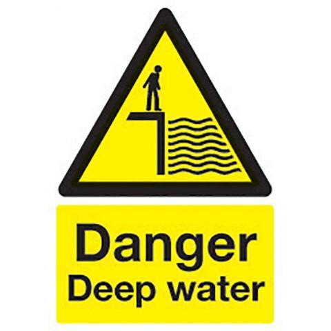 Safety Signs Danger Deep Water - Orbit - Safety Signage - Lapwing UK