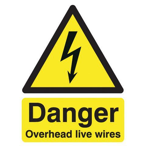 Safety Signs Danger Overhead Live Wires - Orbit - Safety Signage - Lapwing UK