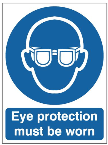 Safety Signs Eye Protection Must Be Worn A3