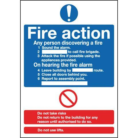 Signs Fire Action - Orbit - Fire Protection - Lapwing UK