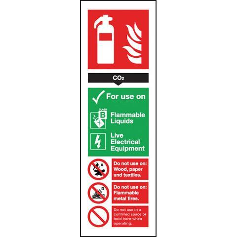Signs Fire Extinguisher CO2 - Orbit - Fire Protection - Lapwing UK