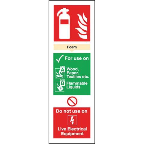 Signs Fire Extinguisher Foam