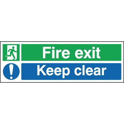 Safety Signs Fire Exit Keep Clear - Orbit - Safety Signage - Lapwing UK