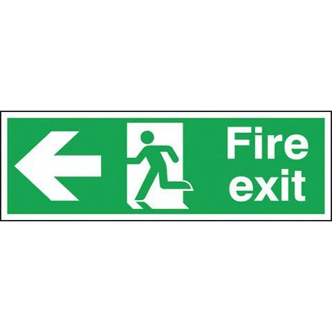 Safety Signs Fire Exit Arrow Left - Orbit - Safety Signage - Lapwing UK