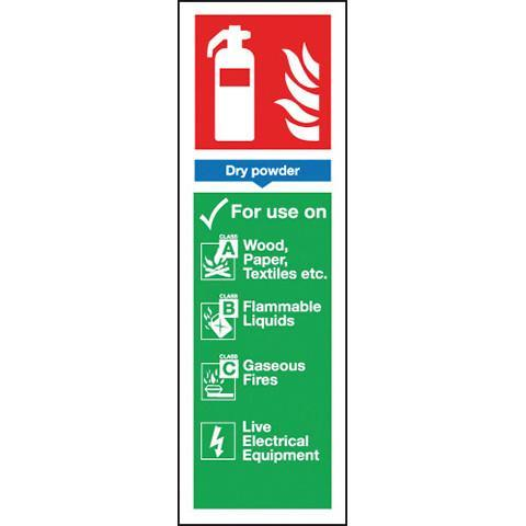 Signs Fire Extinguisher- Powder - Orbit - Fire Protection - Lapwing UK