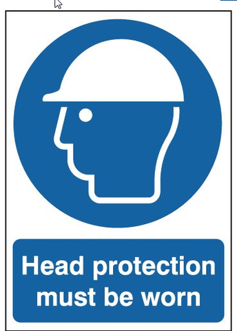 Safety Signs Head Protection Must Be Worn A3 - Orbit - Safety Signage - Lapwing UK