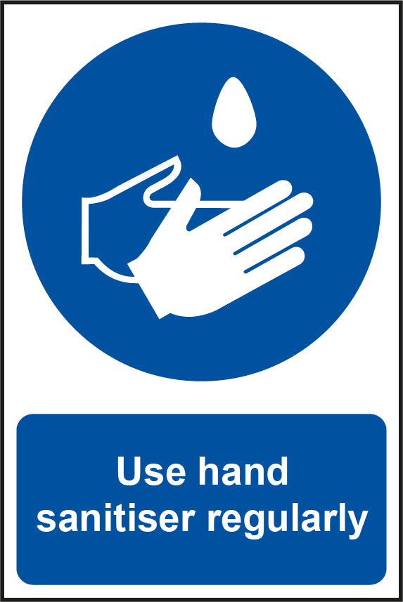 Use Hand Sanitiser Regularly - Safety Sign 200 x 300mm - LapwingUK B2C - Safety Signage - Lapwing UK