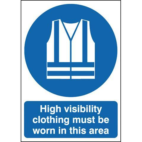 Safety Signs Hi Viz Clothing must be Worn