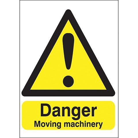 Safety Signs Danger Moving Machinery - Orbit - Safety Signage - Lapwing UK