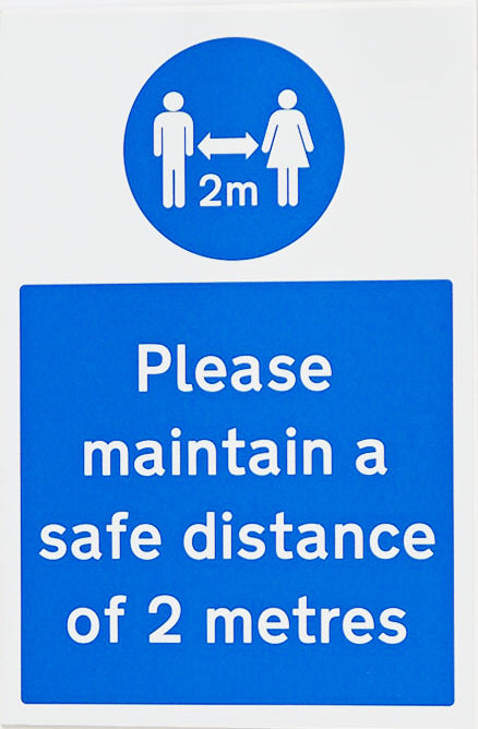 Covid-19 Safety Signs Keep Safe Distance - Orbit - Safety Signage - Lapwing UK