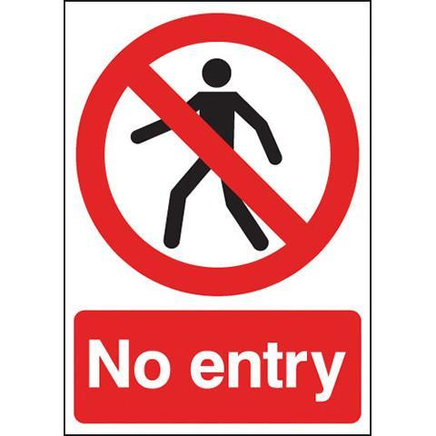 Safety Signs No Entry - Orbit - Safety Signage - Lapwing UK