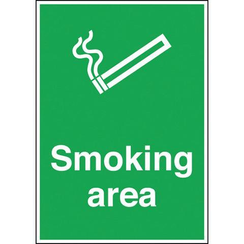 Safety Signs Smoking Area - Orbit - Safety Signage - Lapwing UK