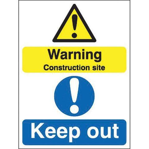 Safety Signs Warning Construction Site Keep Out - Orbit - Safety Signage - Lapwing UK