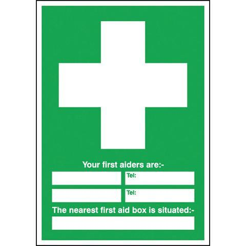 Safety Signs Your First Aiders Are - Orbit - Safety Signage - Lapwing UK