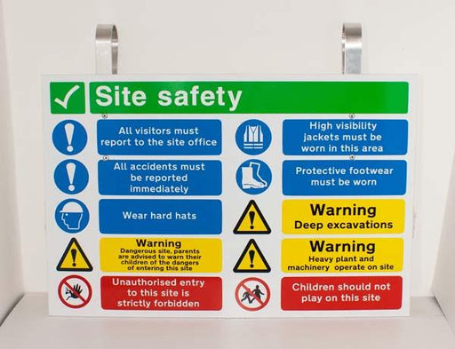 Safety Sign Temporary Fence Hanger