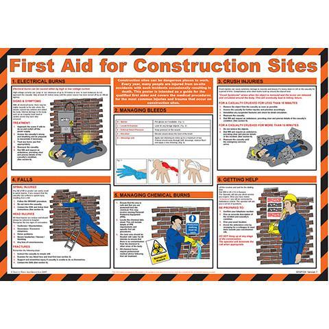Wall Chart First Aid on Construction Sites - Orbit - Safety Signage - Lapwing UK