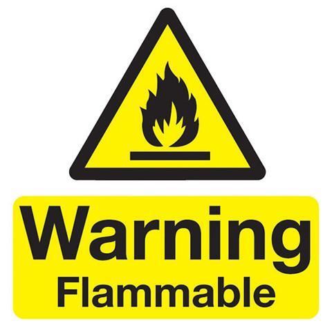 Safety Stickers Warning Flammable - Orbit - Safety Signage - Lapwing UK