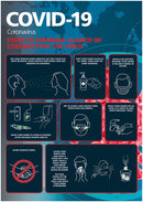 Covid-19 Steps to Minimise.. Repositionable Poster A3 - LapwingUK B2C - Safety Signage - Lapwing UK