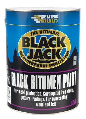 Bitumen Paint (Black Jack) 5L - Orbit - Sealants & Adhesives - Lapwing UK