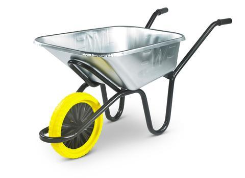 Galvanised 120L Wheelbarrow & Puncture Proof Wheel - Orbit - Materials Handling - Lapwing UK