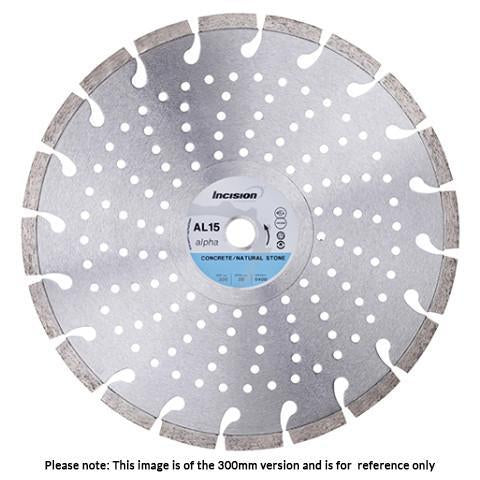 AL15-300/20 - Alpha Range Diamond Blade for Concrete & Natural Stone Products